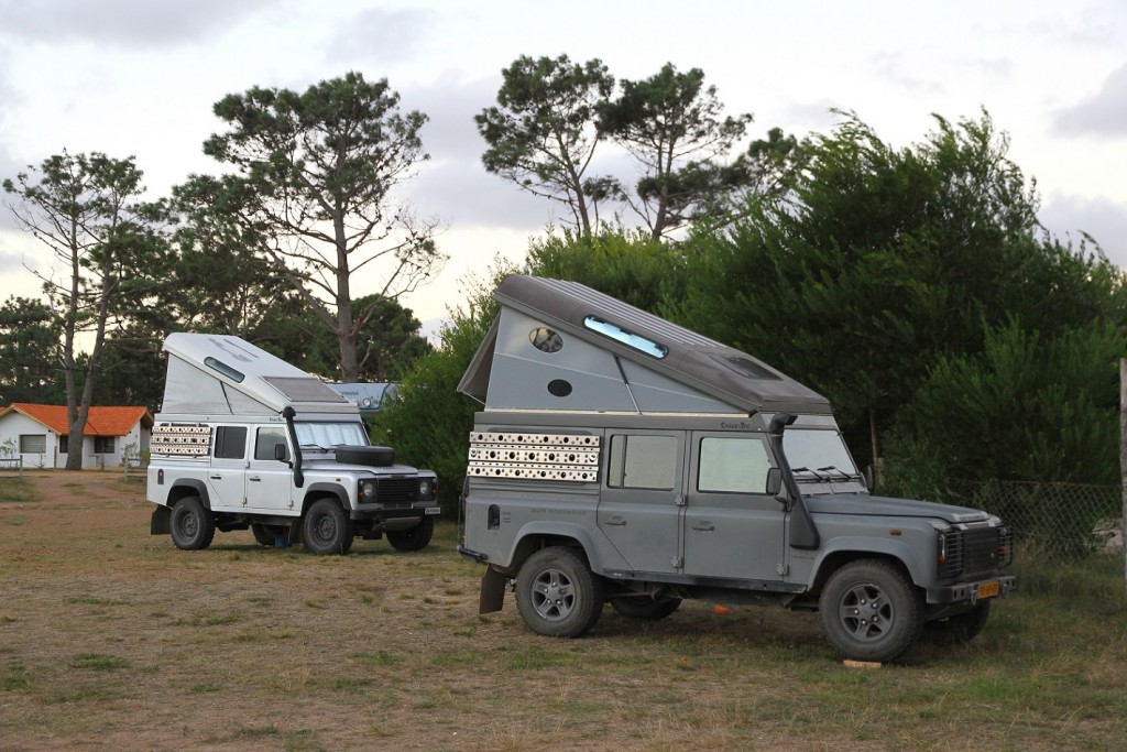 This is how you go camping ... in true Land Rover style.